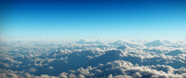 Cloudscape in widescreen Stock Photo