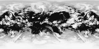 Cloudscape widok z lotu ptaka ilustracji