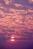 Cloudscape zmierzch Fotografia Royalty Free