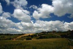 cloudscapebygd över Royaltyfria Bilder