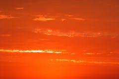 cloudscapemorgon arkivbild