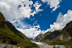cloudscaperävglaciär New Zealand Royaltyfria Bilder