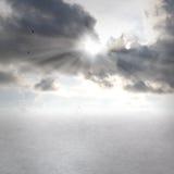 Cloudscapes com sunbeams Fotografia de Stock Royalty Free