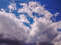 Cloudscapes och lynniga skyies royaltyfri bild