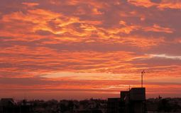 cloudscapesmorgon Arkivfoto