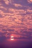 Cloudscapezonsondergang Royalty-vrije Stock Fotografie
