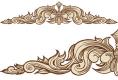 Cloudwind Banner - Bronze Royalty Free Stock Image