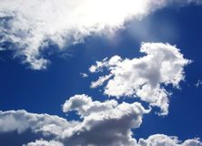 Cloudy. Clouds in the sky in a clean morning Royalty Free Stock Images