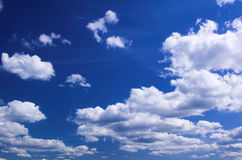 Cloudy. Beautiful blue cloudy summer sky Stock Photography