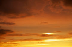 Cloudy abstract background. Sunset Stock Photos
