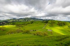 Stormy afternoon over Mount Diablo. A cloudy afternoon along the Diablo Foothills and the China Wall stock images