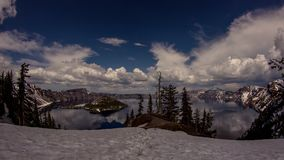 Cloudy Afternoon at Crater Lake stock footage
