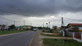 A cloudy afternoon in Paramaribo Stock Images