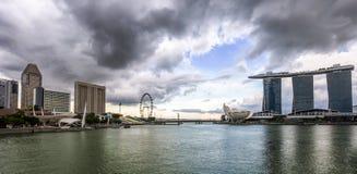Cloudy afternoon at Singapore Marina royalty free stock photos