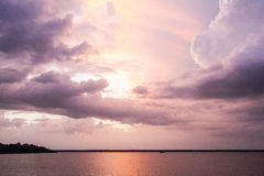 Cloudy Amazon River royalty free stock image