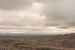 Cloudy Arizona desert Royalty Free Stock Photography