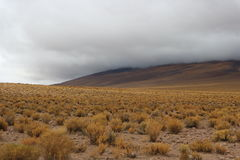 Cloudy Atacama Desert View. Atacama Desert near the border of Bolivia and Chile Stock Image