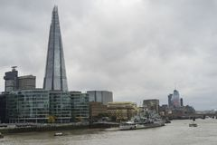Cloudy autumn day in the big city of London Great Britain Stock Images