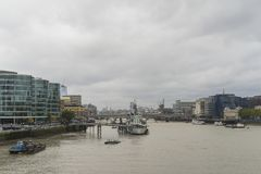 Cloudy autumn day in the big city of London Great Britain Stock Photography