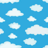 Cloudy background. Abstract seamless pattern with clouds for background - vector illustration. You can use it to fill your own background Stock Photo
