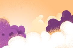 Cloudy background with spectacular colors and lights royalty free illustration