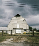 Cloudy Barn. A barn right before a thunderstorm Royalty Free Stock Photo