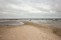 Cloudy beach. Stock Photography