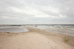 Cloudy beach. Royalty Free Stock Photos