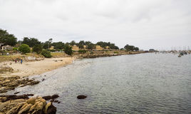 Cloudy Beach in Monterey Royalty Free Stock Photo