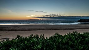 Cloudy Beach Sunset Timelapse 4k stock video footage