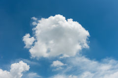 Cloudy on blue skies background. Stock Image