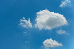Cloudy on blue skies background. Stock Photos