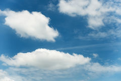 Cloudy on blue skies background, White cloud. Stock Photography