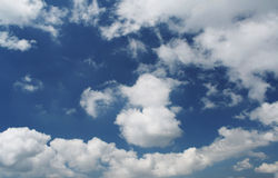 Cloudy blue sky. Blue cloudy sky for background Royalty Free Stock Image