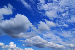 Cloudy blue sky. Wonderful clouds against blue sky Royalty Free Stock Photo