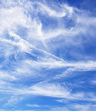 Cloudy blue sky Stock Images