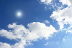 Cloudy Blue Sky. Background blue sky and white clouds Royalty Free Stock Photo