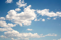 Cloudy blue sky Stock Photos