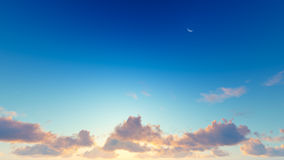 Cloudy blue sky abstract background, 3d illustration Stock Images