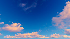 Cloudy blue sky abstract background, 3d illustration Royalty Free Stock Photography