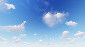 Cloudy blue sky abstract background, 3d illustration Royalty Free Stock Photos