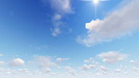 Cloudy blue sky abstract background, 3d illustration Stock Image