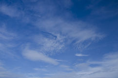 Cloudy blue sky abstract background Stock Images