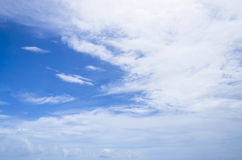 Cloudy blue sky abstract background Royalty Free Stock Photos