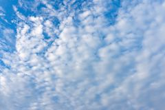 Cloudy blue sky and alto-cumulus Royalty Free Stock Images
