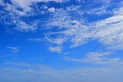 Cloudy Blue Sky Background stock photography