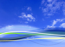 Cloudy blue sky background composite Stock Photo