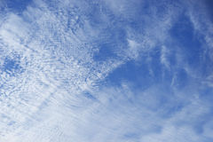 Cloudy blue sky background Stock Photo