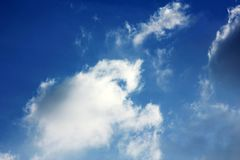 Cloudy blue sky background wallpaper royalty free stock image