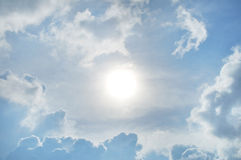 Cloudy Blue Sky. Beautiful cloudy blue sky captured Royalty Free Stock Photo